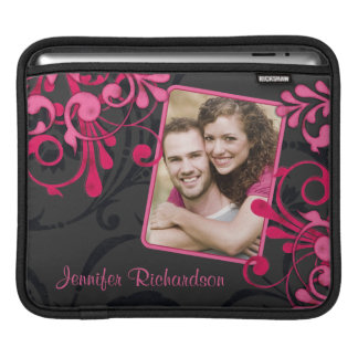 Pink Black Floral Photo Template Rickshaw Sleeve