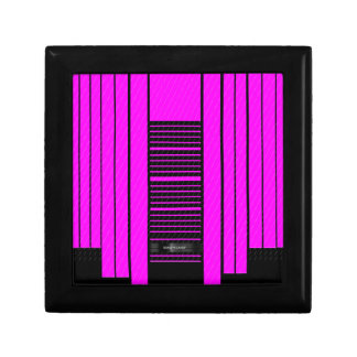 Pink Black Flowing Banner Small Square Gift Box