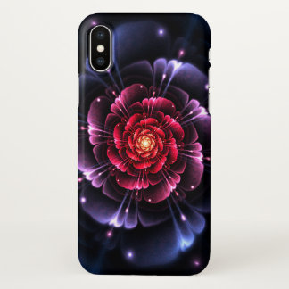 Pink Black Glitter Fractal Zazzle iPhone X Case