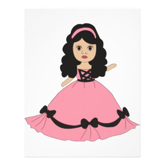 Pink & Black Gown Princess 2 Personalized Flyer