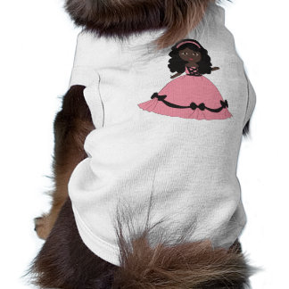 Pink Black Gown Princess 3 Dog Clothing
