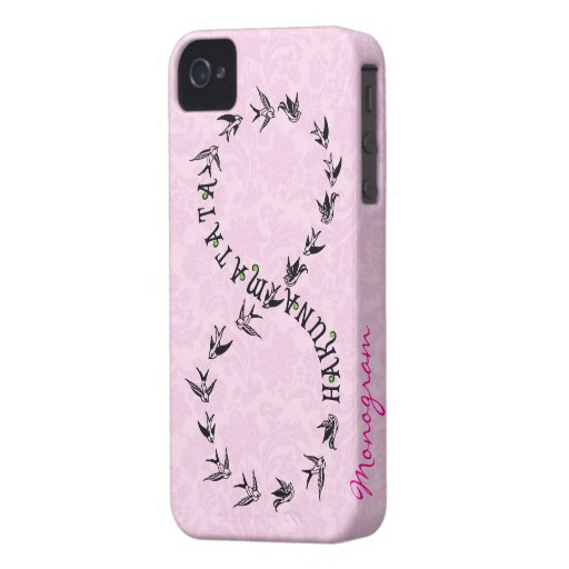Pink & Black Hakuna Matata Infinity Symbol iPhone 4 Cases