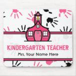 Pink & Black Handprints Kindergarten Teacher