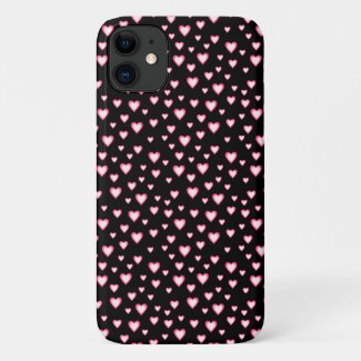 Pink Black Heart Pattern Case-Mate iPhone Case