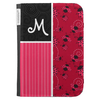 Pink Black Ladybug Kindle 3 Case