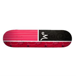 Pink Black Ladybug Custom Skate Board