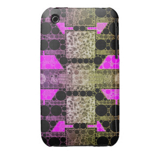 Pink Black Leopard Abstract iPhone 3 Covers