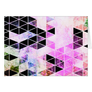 Pink & Black Modern Triangle Design Card