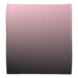 Pink Black Ombre Background Bandana
