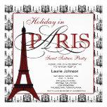Pink Black Paris Chandelier Sweet Sixteen Party Personalized Announcement