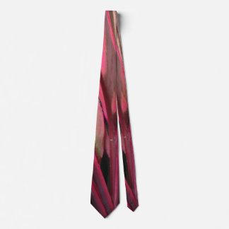 Pink Black Pattern Mens Tie