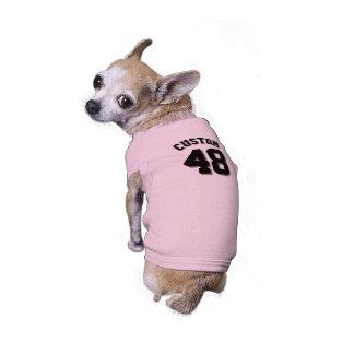 Pink & Black Pets   Dog Sports Jersey Design Sleeveless Dog Shirt