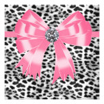 Pink Black Pink Leopard Party Invitation Template