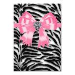 Pink Black Pink Zebra RSVP Template