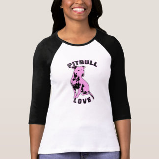 Pink & Black Pitbull Love Shirt