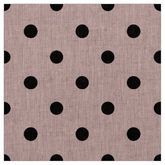 Pink black polka dot fabric