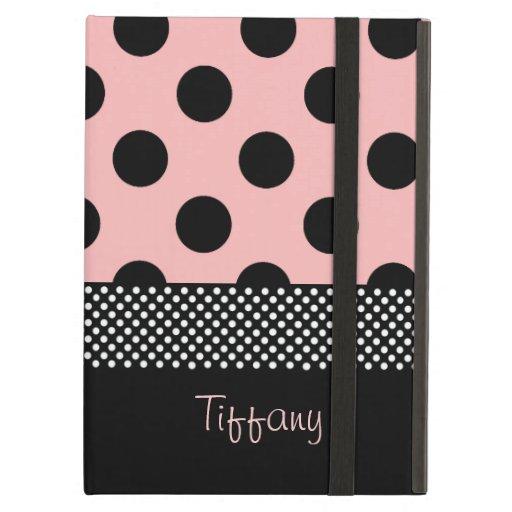 Pink & Black Polka Dots iPad Case