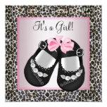 Pink Black Shoes Pink Leopard Baby Girl Shower