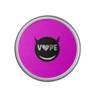Pink Black Silver Vape Heart Bluetooth Speaker