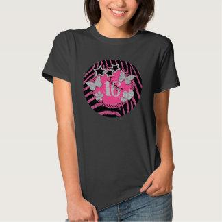 Pink Black Silver Zebra Glitter Sweet 16 T-Shirt