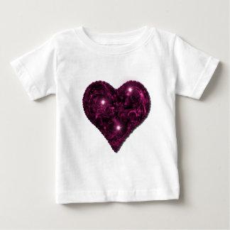 Pink & black sparkly heart shirt