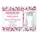 Pink & Black Splatter Grad Photo Announcement