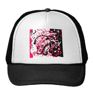 Pink Black Splatter Hat