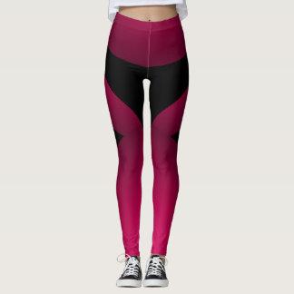 Pink Black Sporty Chic Slimming Sports Dance Leggings