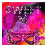 Pink Black Sweet 16 Masquerade Birthday Party