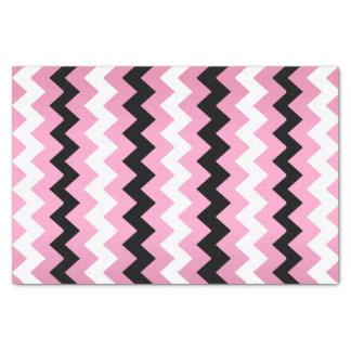Pink, Black White Chevron Tissue Paper