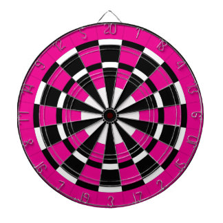 Pink Black & White Dartboard