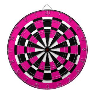 Pink Black White Dartboard