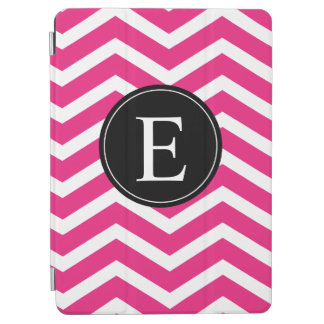 Pink Black White Monogram Chevron Custom iPad Air Cover