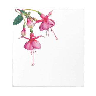 Pink Bleeding Heart flowers leaves Notepads