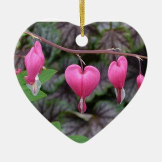 Pink Bleeding Heart Heart-shaped Ornament