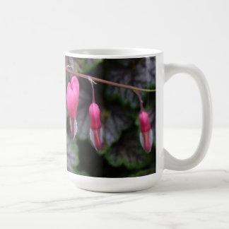 Pink Bleeding Hearts Flower Coffee Mug