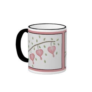 Pink Bleeding Hearts Mug