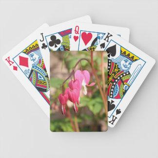 Pink Bleeding Hearts Poker Deck