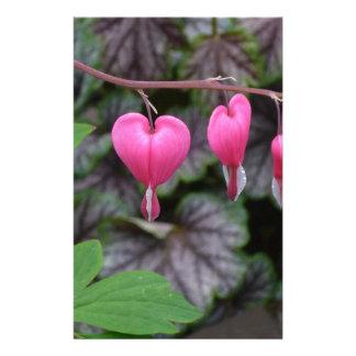 Pink Bleeding Hearts Stationery