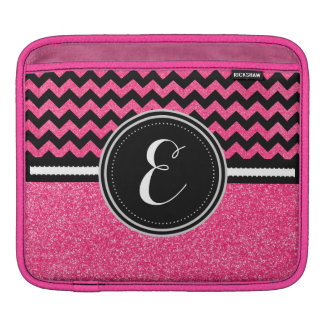 Pink Bling Glitter Chevron Personalized Case