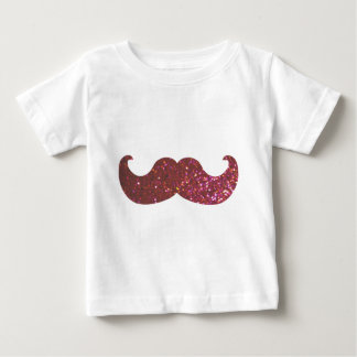 Pink Bling Mustache (Faux Glitter Graphic) Baby T-Shirt