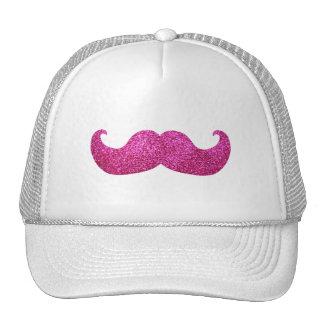 Pink Bling Mustache (Faux Glitter Graphic) Cap