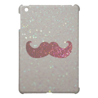Pink Bling Mustache (Faux Glitter Graphic) iPad Mini Cover