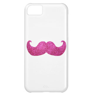 Pink Bling Mustache (Faux Glitter Graphic) iPhone 5C Case