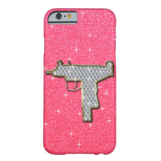 Pink Bling Uzi Gun Barely There iPhone 6 Case