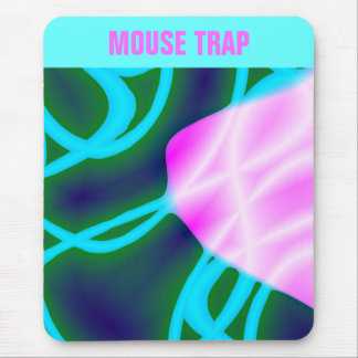 Pink Blob Blue Lines Mousepad