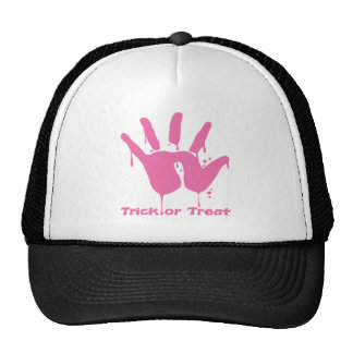 Pink Bloody Hand Hats