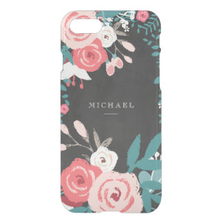 Pink Bloom and Chalkboard iPhone 8/7 Case