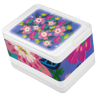 Pink Blooms Igloo 12 Can Cooler Igloo Cooler