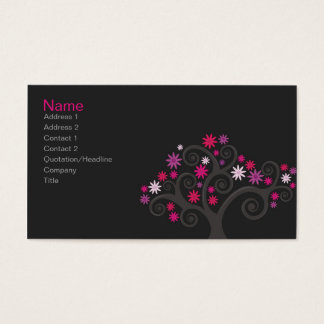 Pink Blooms Profile Card